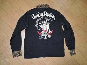 ワコマリアWACKO MARIAガールステッチシャツS黒刺繍