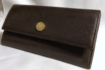 正規 ブルガリBVLGARI B-zeroボタン長財布 ダークブラウン ウォレット 小銭入れ