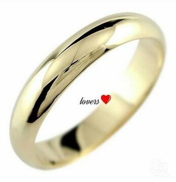 送料無料7号ゴールドサージカルステンレスシンプルリング指輪