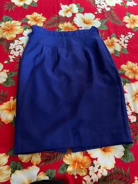 美品☆Fabulous☆CECIL McBEE☆濃青シンプルタイトスカート☆